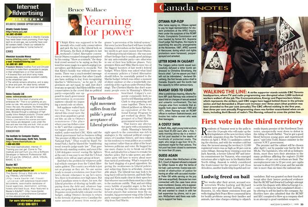 Article Preview: Yearning for power, March 1999 | Maclean's