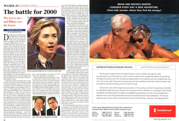 Article Preview: The battle for 2000, March 1999 | Maclean's