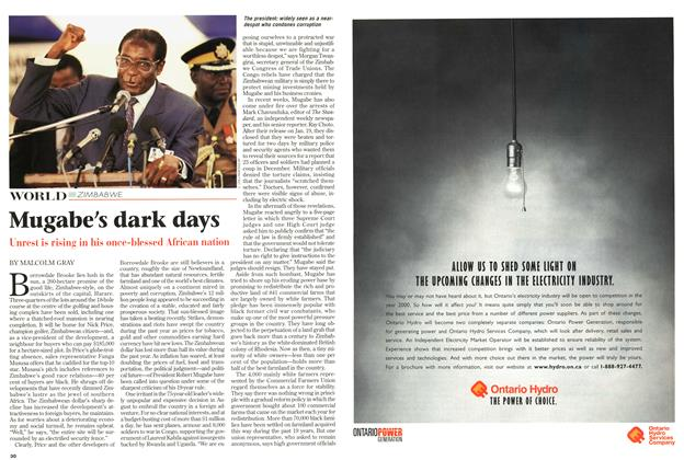 Article Preview: Mugabe's dark days, March 1999 | Maclean's