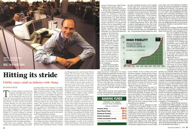 Article Preview: Hitting its stride, March 1999 | Maclean's