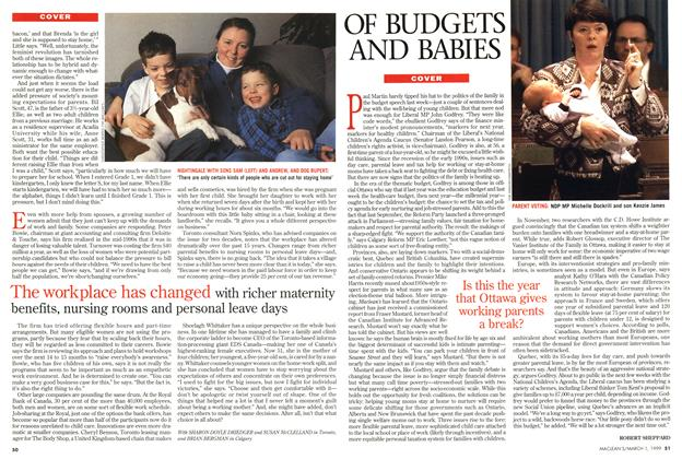 Article Preview: OF BUDGETS AND BABIES, March 1999 | Maclean's