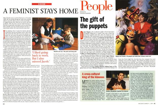 Article Preview: A FEMINIST STAYS HOME, March 1999 | Maclean's