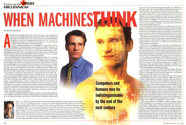 Article Preview: WHEN MACHINES THINK, March 1999 | Maclean's