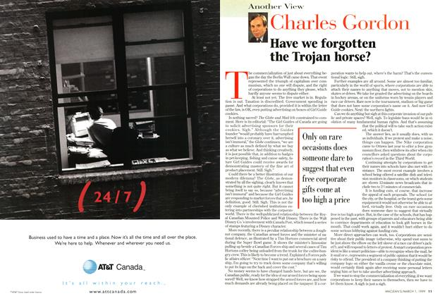 Article Preview: Have we forgotten the Trojan horse?, March 1999 | Maclean's