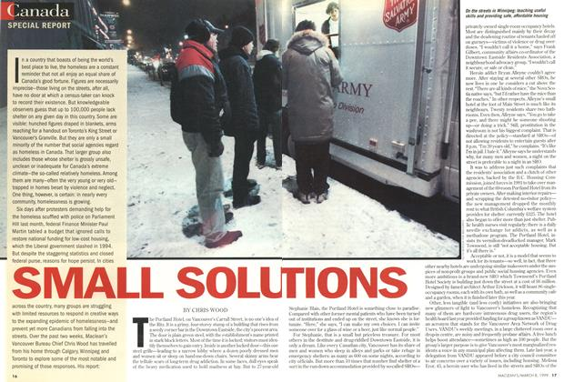 Article Preview: SMALL SOLUTIONS, March 1999 | Maclean's