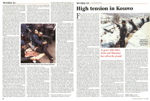 Article Preview: High tension in Kosovo, March 1999 | Maclean's
