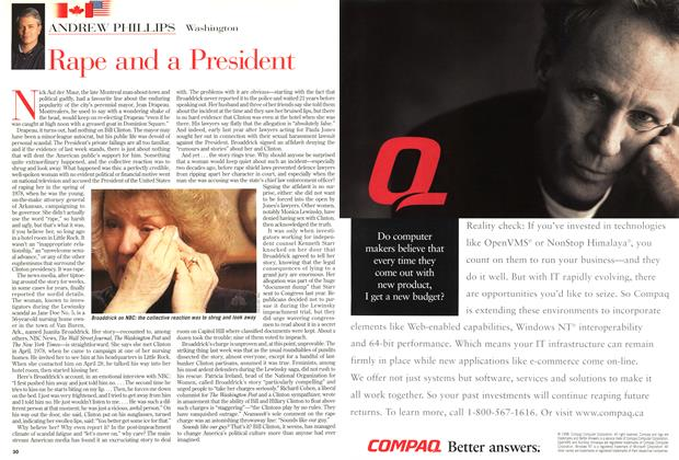 Article Preview: Rape and a President, March 1999 | Maclean's