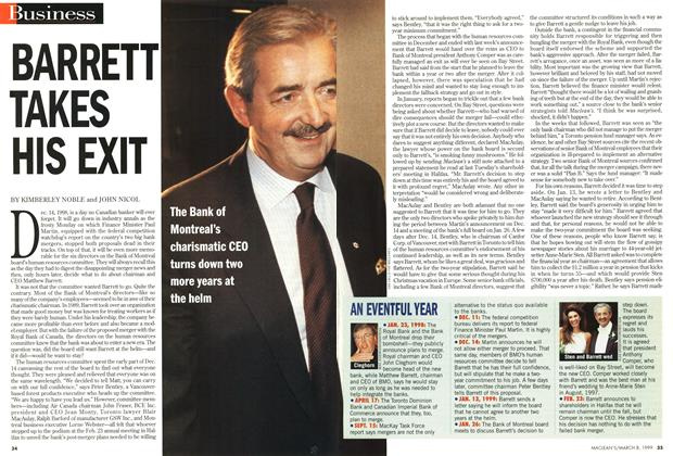 Article Preview: BARRETT TAKES HIS EXIT, March 1999 | Maclean's