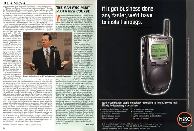 Article Preview: THE MAN WHO MUST PLOT A NEW COURSE, March 1999 | Maclean's