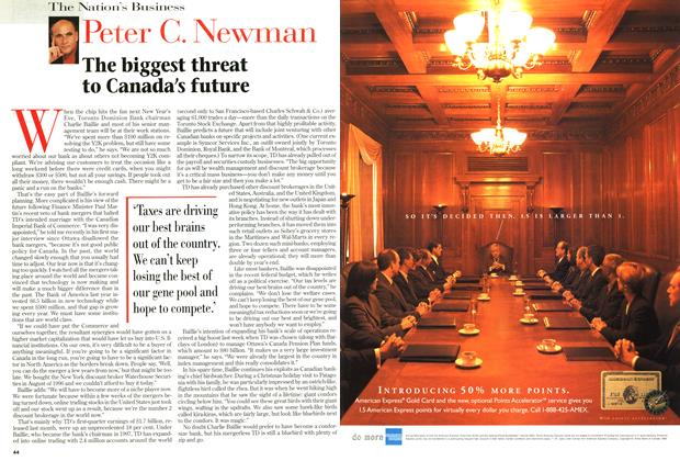 Article Preview: The biggest threat to Canada's future, March 1999 | Maclean's