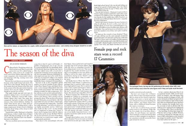 Article Preview: The season of the diva, March 1999 | Maclean's