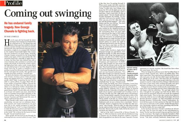 Article Preview: Coming out swinging, March 1999 | Maclean's