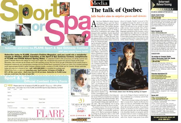 Article Preview: The talk of Quebec, March 1999 | Maclean's