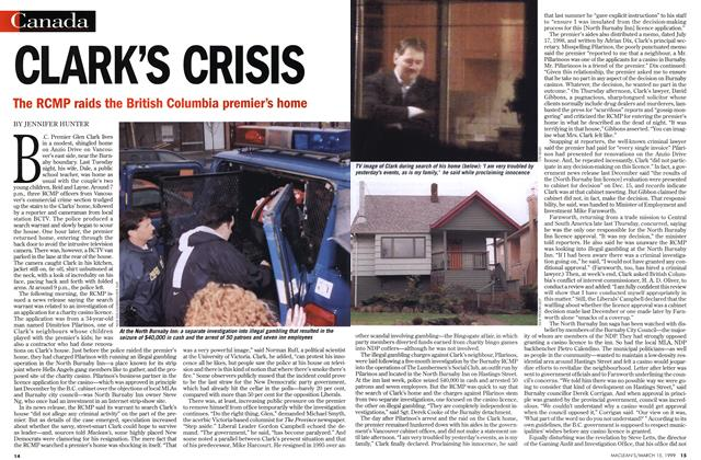Article Preview: CLARK'S CRISIS, March 1999 | Maclean's