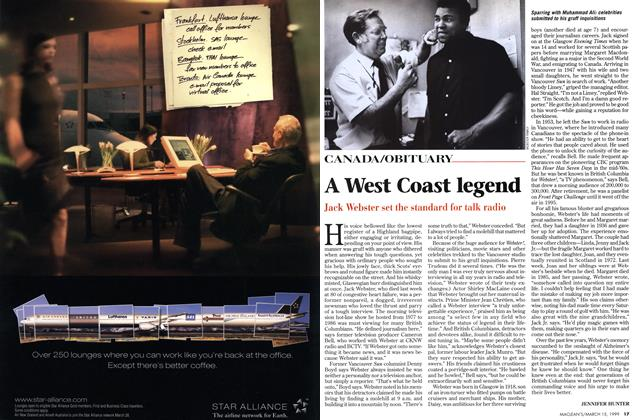 Article Preview: A West Coast legend, March 1999 | Maclean's