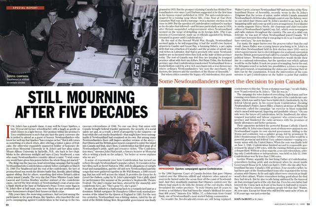 Article Preview: STILL MOURNING AFTER FIVE DECADES, March 1999 | Maclean's