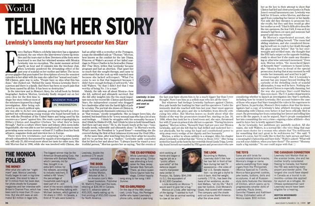 Article Preview: TELLING HER STORY, March 1999 | Maclean's
