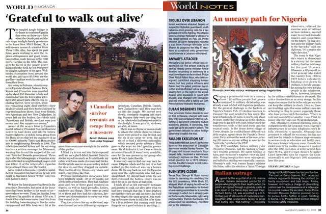 Article Preview: 'Grateful to walk out alive', March 1999 | Maclean's