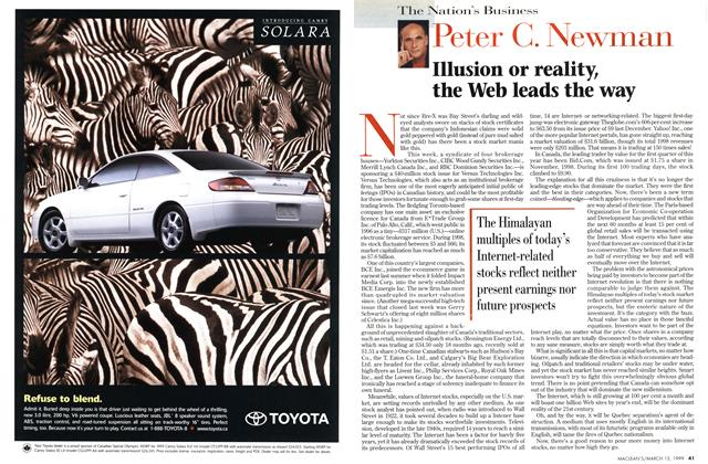 Article Preview: Illusion or reality, the Web leads the way, March 1999 | Maclean's
