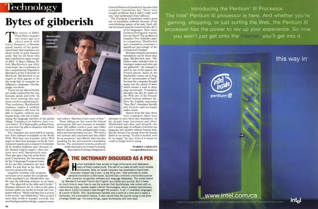 Article Preview: Bytes of gibberish, March 1999 | Maclean's