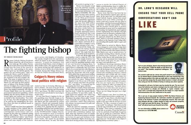 Article Preview: The fighting bishop, March 1999 | Maclean's