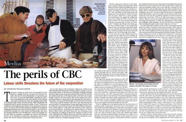 Article Preview: The perils of CBC, March 1999 | Maclean's