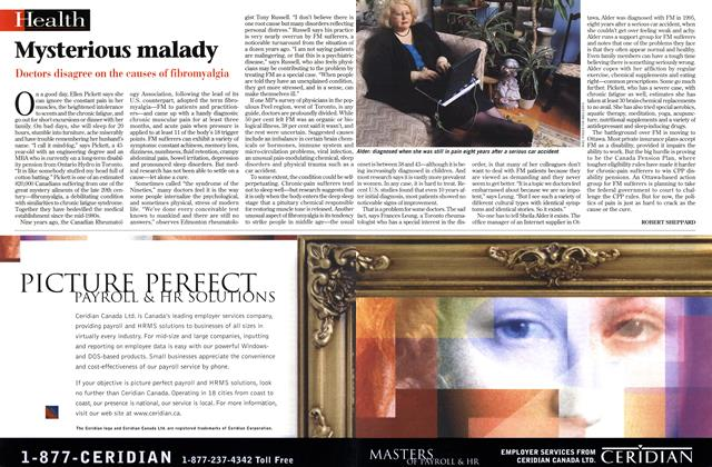 Article Preview: Mysterious malady, March 1999 | Maclean's