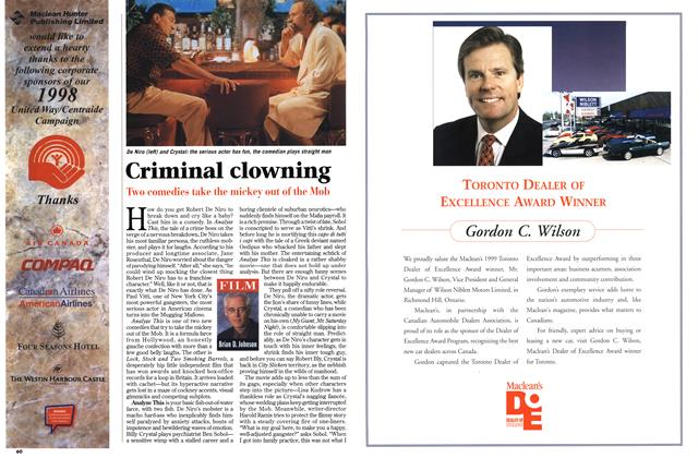 Article Preview: Criminal clowning, March 1999 | Maclean's