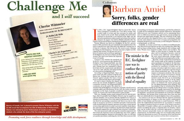 Article Preview: Sorry, folks, gender differences are real, March 1999 | Maclean's