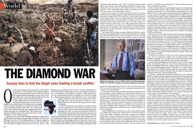 Article Preview: THE DIAMOND WAR, March 1999 | Maclean's