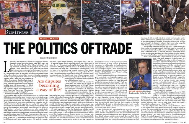 Article Preview: THE POLITICS OF TRADE, March 1999 | Maclean's