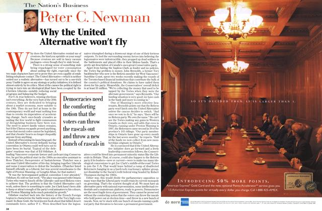 Article Preview: Why the United Alternative won't fly, March 1999 | Maclean's