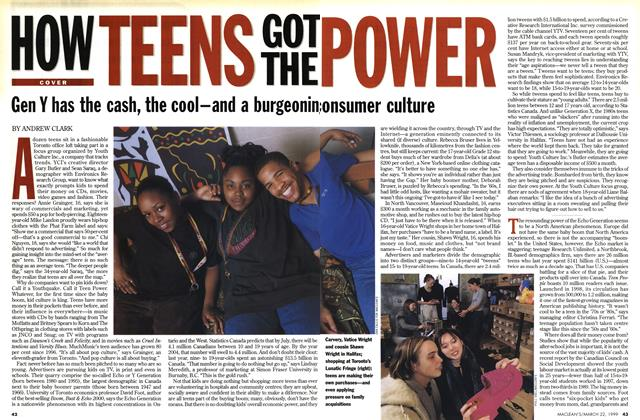 Article Preview: HOW TEENS GOT THE POWER, March 1999 | Maclean's