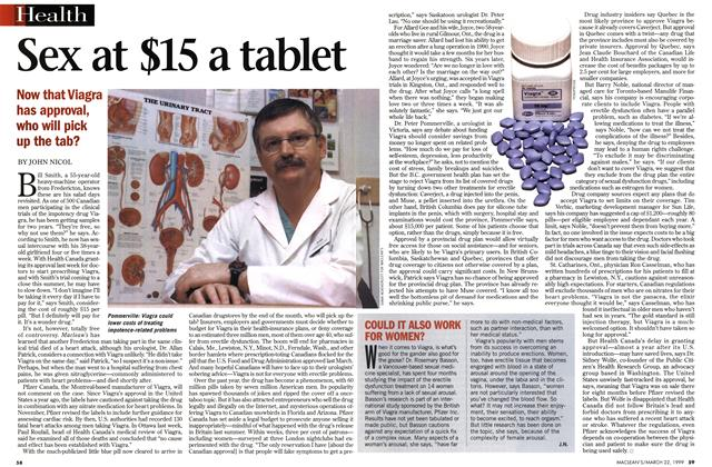 Article Preview: Sex at $15 a tablet, March 1999 | Maclean's
