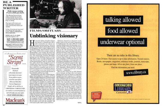 Article Preview: Unblinking visionary, March 1999   Maclean's
