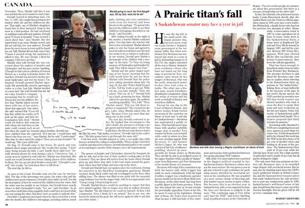 Article Preview: A Prairie titan's fall, March 1999 | Maclean's