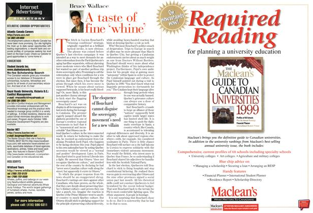 Article Preview: A tast of fine 'whine', March 1999 | Maclean's
