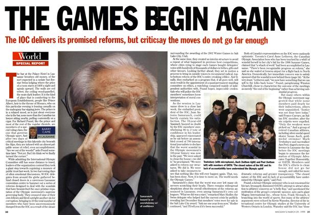 Article Preview: THE GAMES BEGIN AGAIN, March 1999 | Maclean's