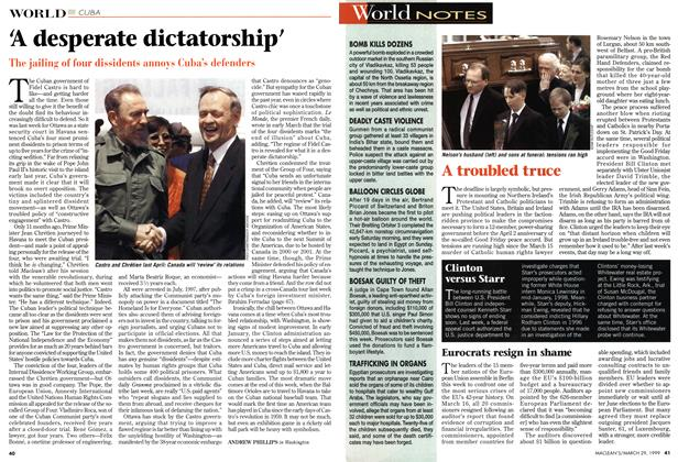 Article Preview: 'A desperate dictatorship', March 1999 | Maclean's