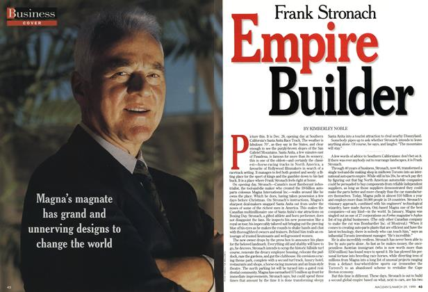 Article Preview: Frank Stronach Empire Builder, March 1999 | Maclean's