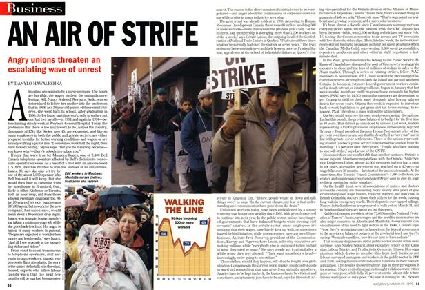 Article Preview: AN AIR OF STRIFE, March 1999 | Maclean's
