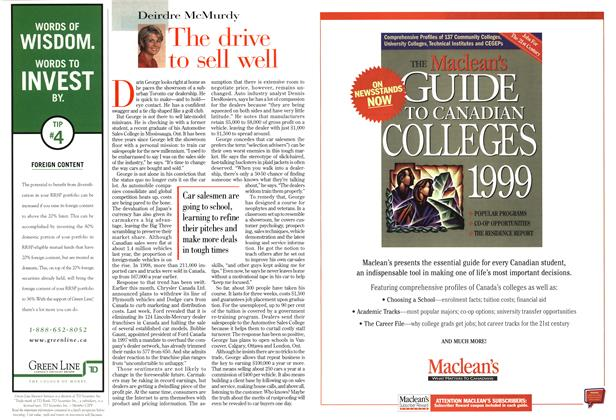 Article Preview: The drive to sell well, March 1999 | Maclean's