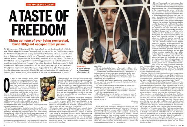 Article Preview: A TASTE OF FREEDOM, March 1999 | Maclean's