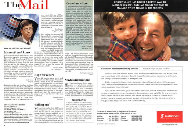 Article Preview: The Mail, March 1999 | Maclean's