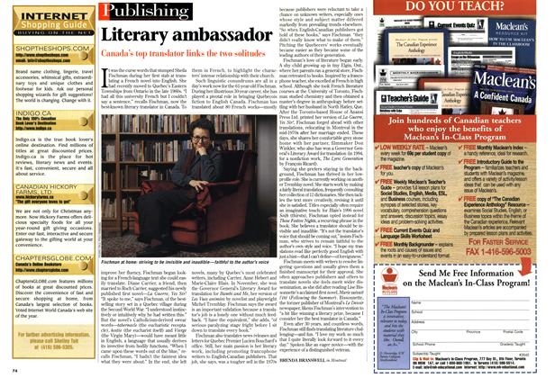 Article Preview: Literary ambassador, March 1999 | Maclean's