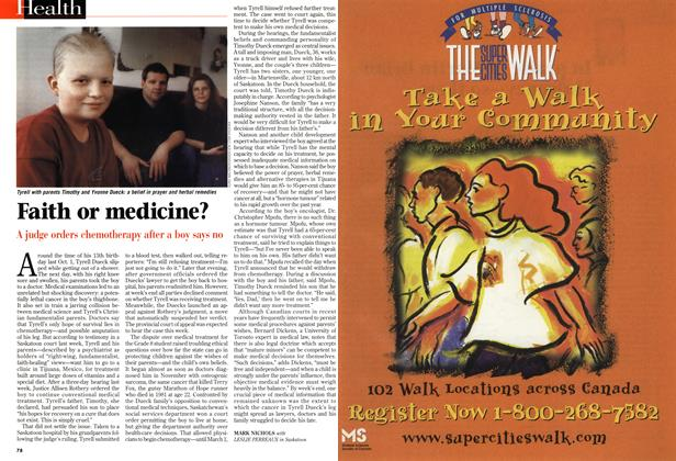 Article Preview: Faith or medicine?, March 1999 | Maclean's