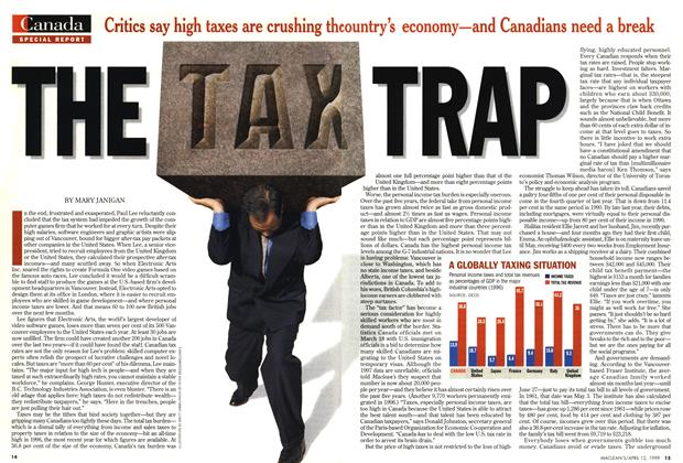 Article Preview: THE TAX TRAP, April 1999 | Maclean's