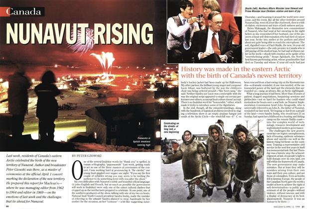 Article Preview: NUNAVUT RISING, April 1999 | Maclean's