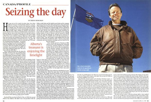 Article Preview: Seizing the day, April 1999 | Maclean's