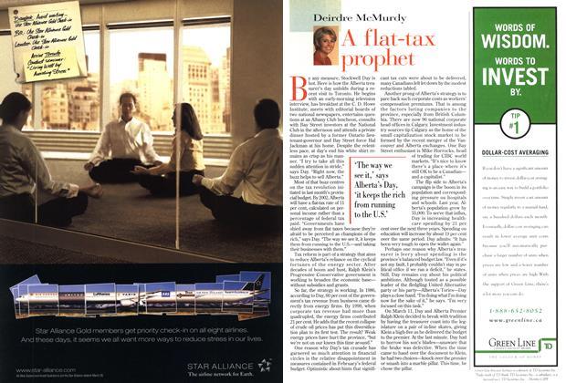 Article Preview: A flat-tax prophet, April 1999 | Maclean's